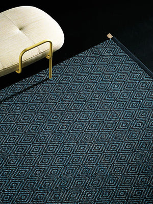 Kasthall Goose Eye Icons Rug XL, blue