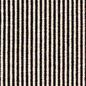Kasthall Hagga Stripe Rug white / dark colour mix