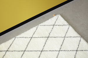 Kasthall Ray Rug white / black