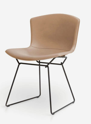 Bertoia side chair in cowhide upholstery