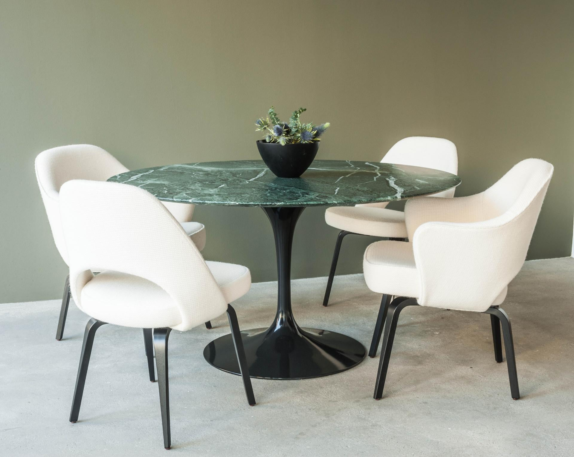 Saarinen Tulip Dining Table Round Couch Potato Company - Black marble tulip dining table