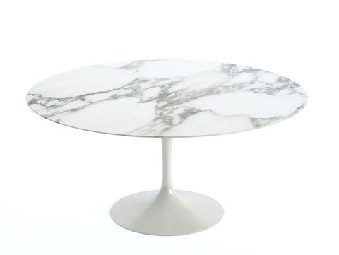 Saarinen Tulip table, Arabescato marble top
