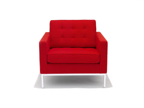 Florence Knoll Lounge Chair, red