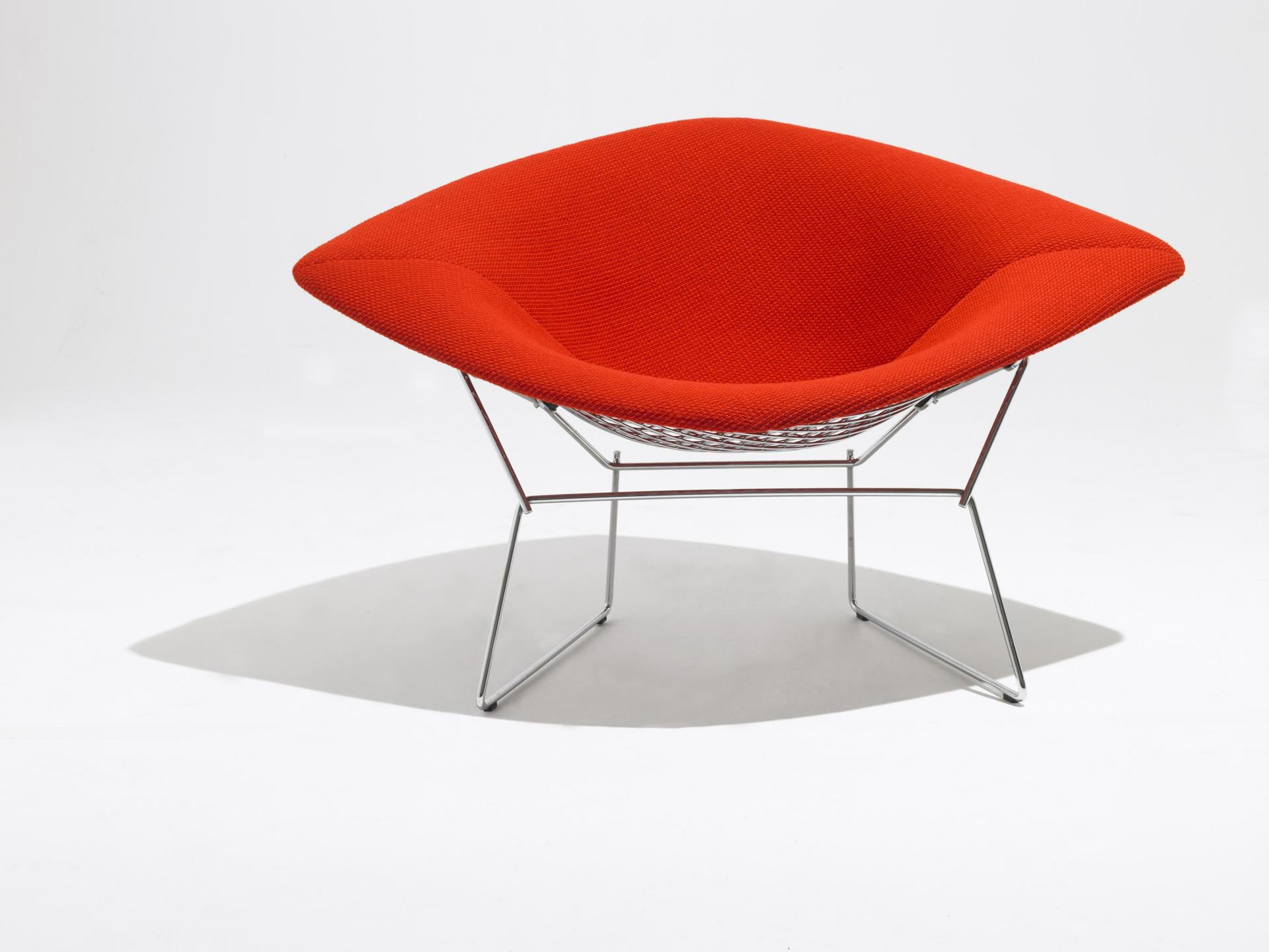 Bertoia Large Diamond Chair With Polished Chrome Frame