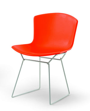 Bertoia Plastic Side Chair in Orange Red