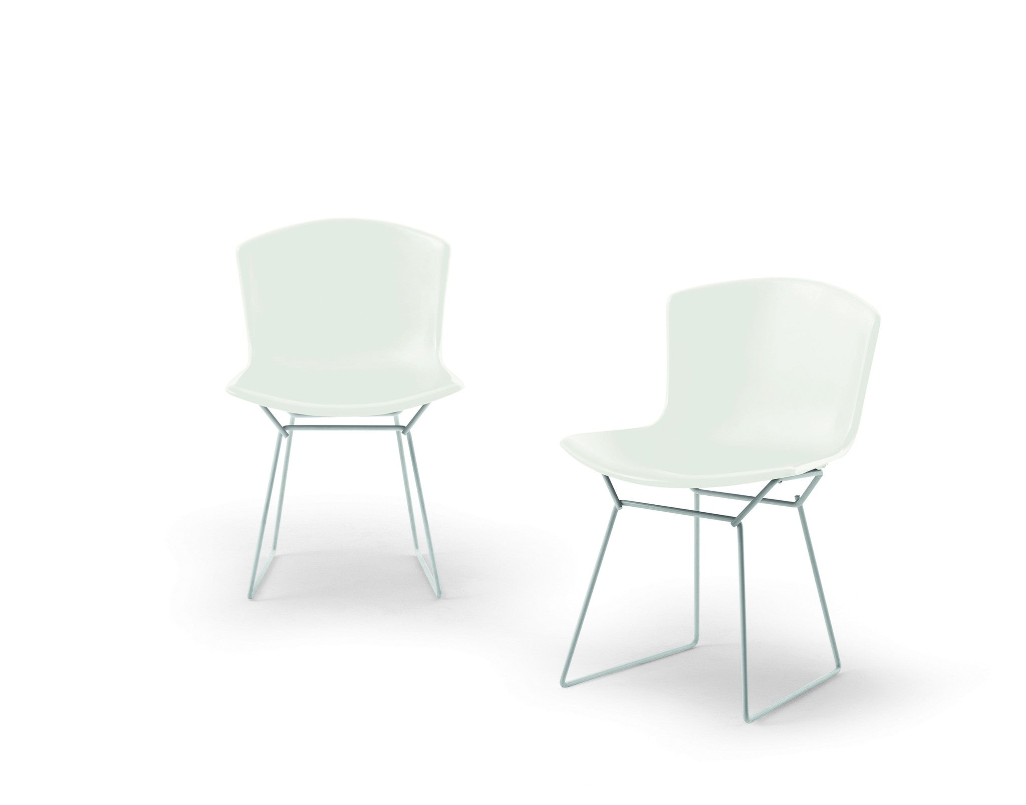 Bertoia Plastic Side Chair In White
