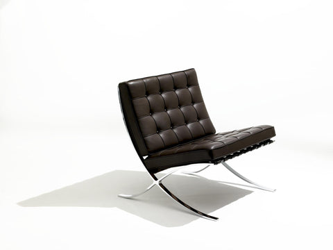 Barcelona chair, brown leather