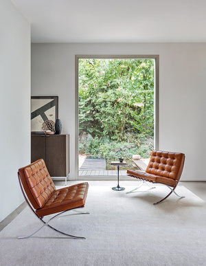 Mies van der Rohe Barcelona Relax chair, cognac Venezia leather