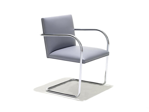 Brno Armchair Tubular in leather