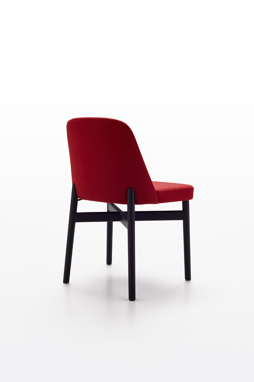 Superieur Krusin Chair Without Arms, Ebonised Ash Frame
