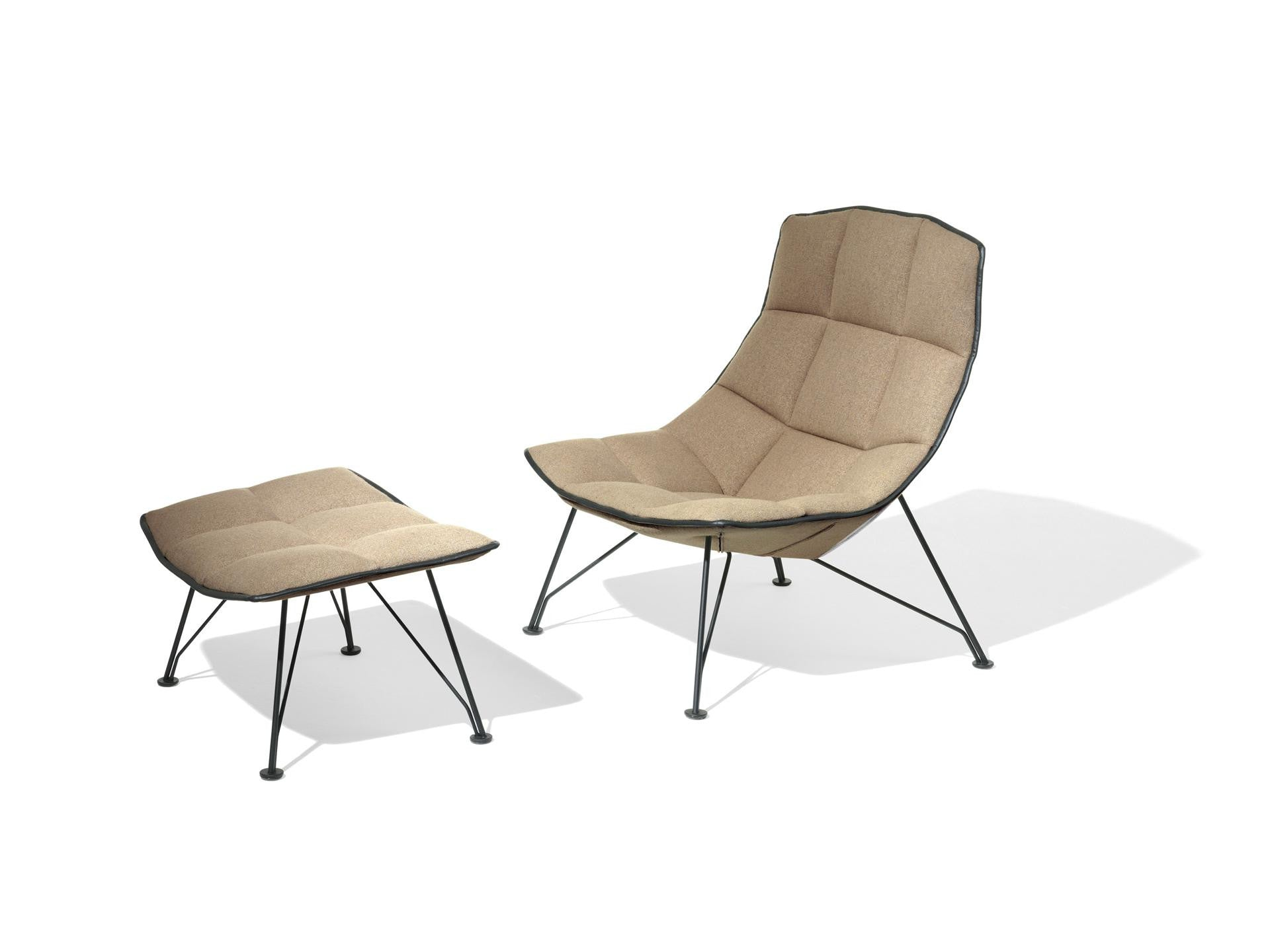 the jehs laub lounge chair wire base couch potato company