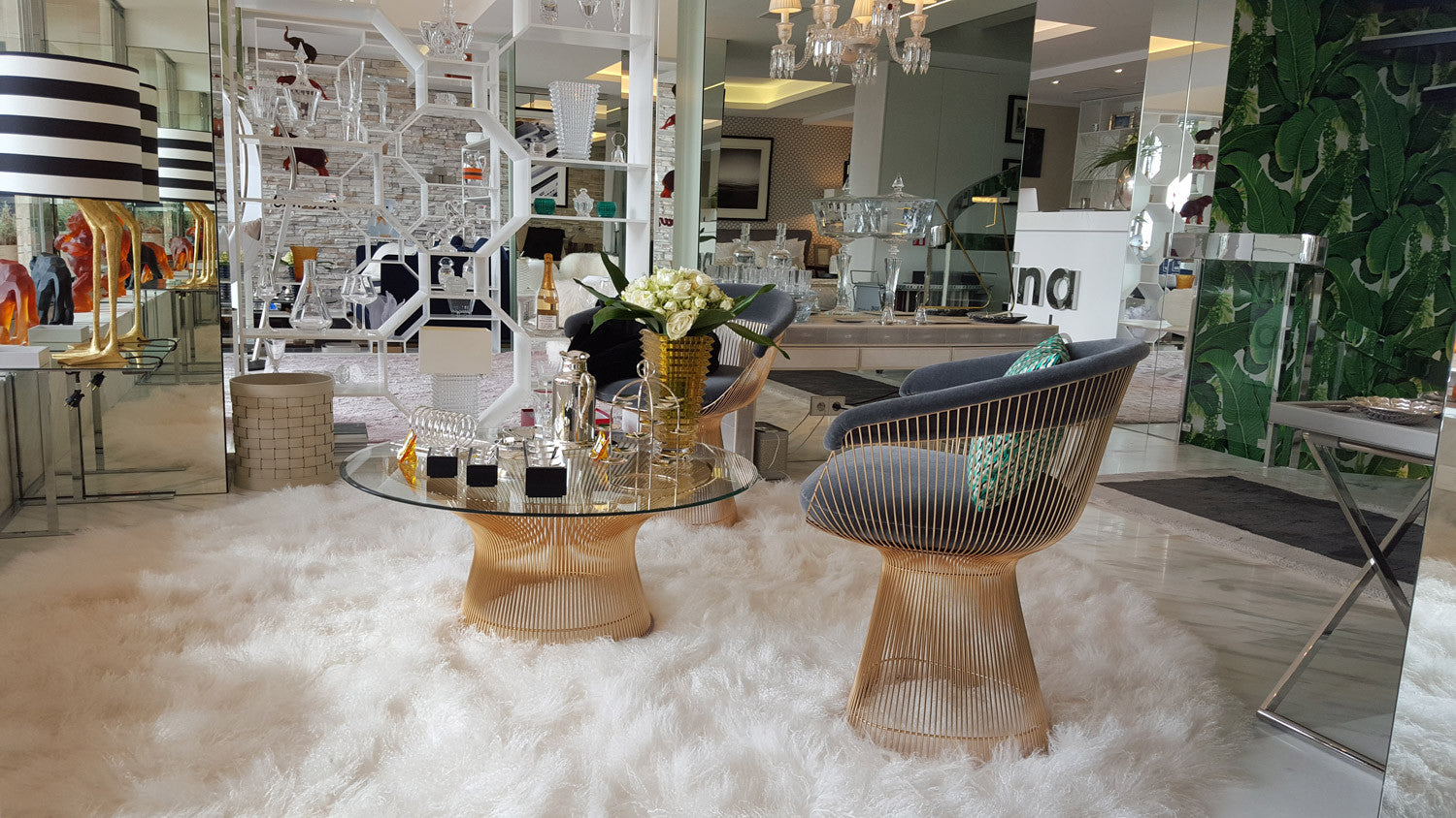 Platner Coffee Table Gold Plated