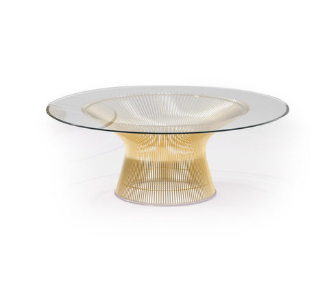 Platner Coffee Table Gold Plated, 107cm dia