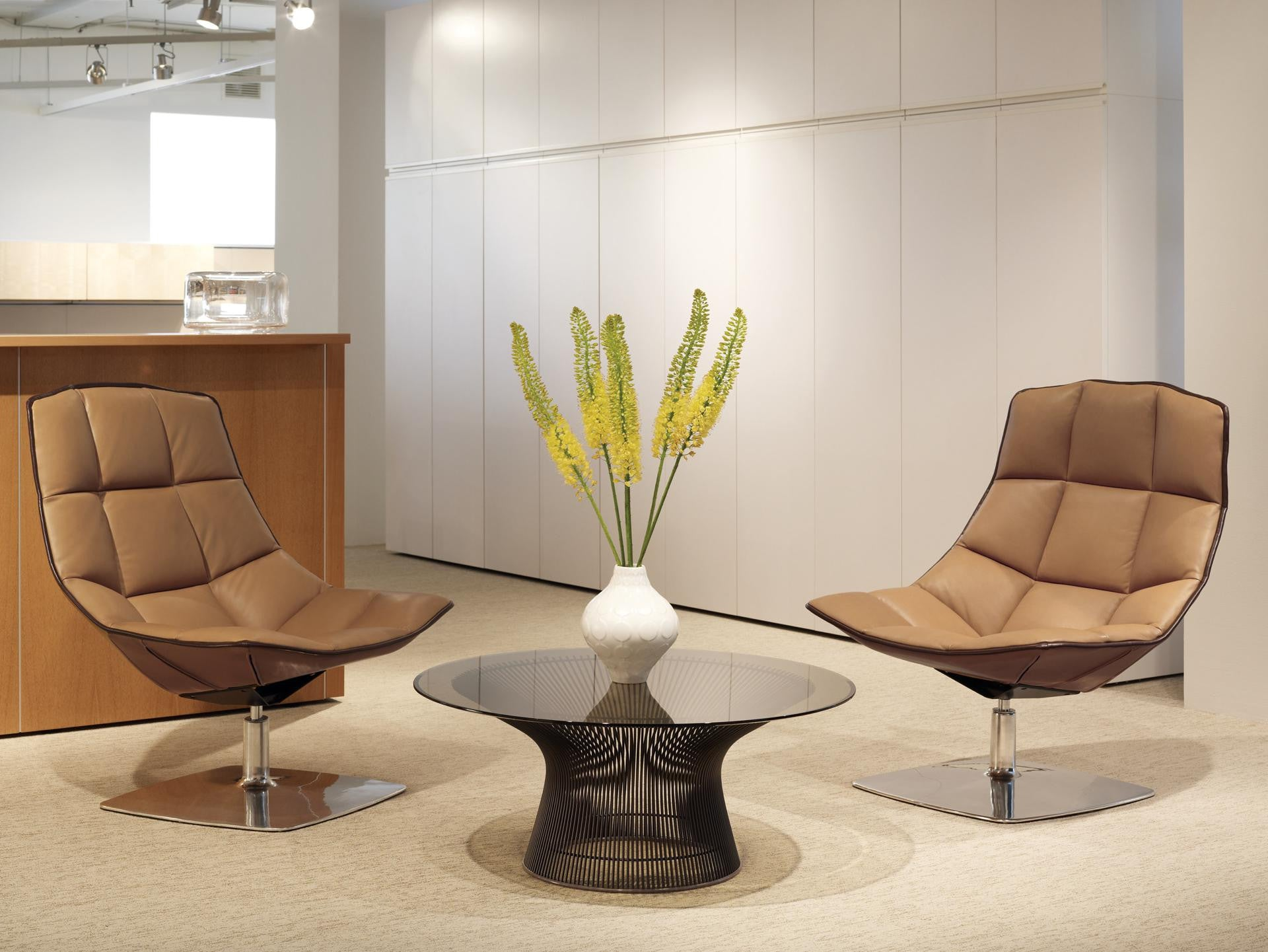 3a30d9852de3 Platner Coffee Table and The Jehs Lounge Chair Wire Base