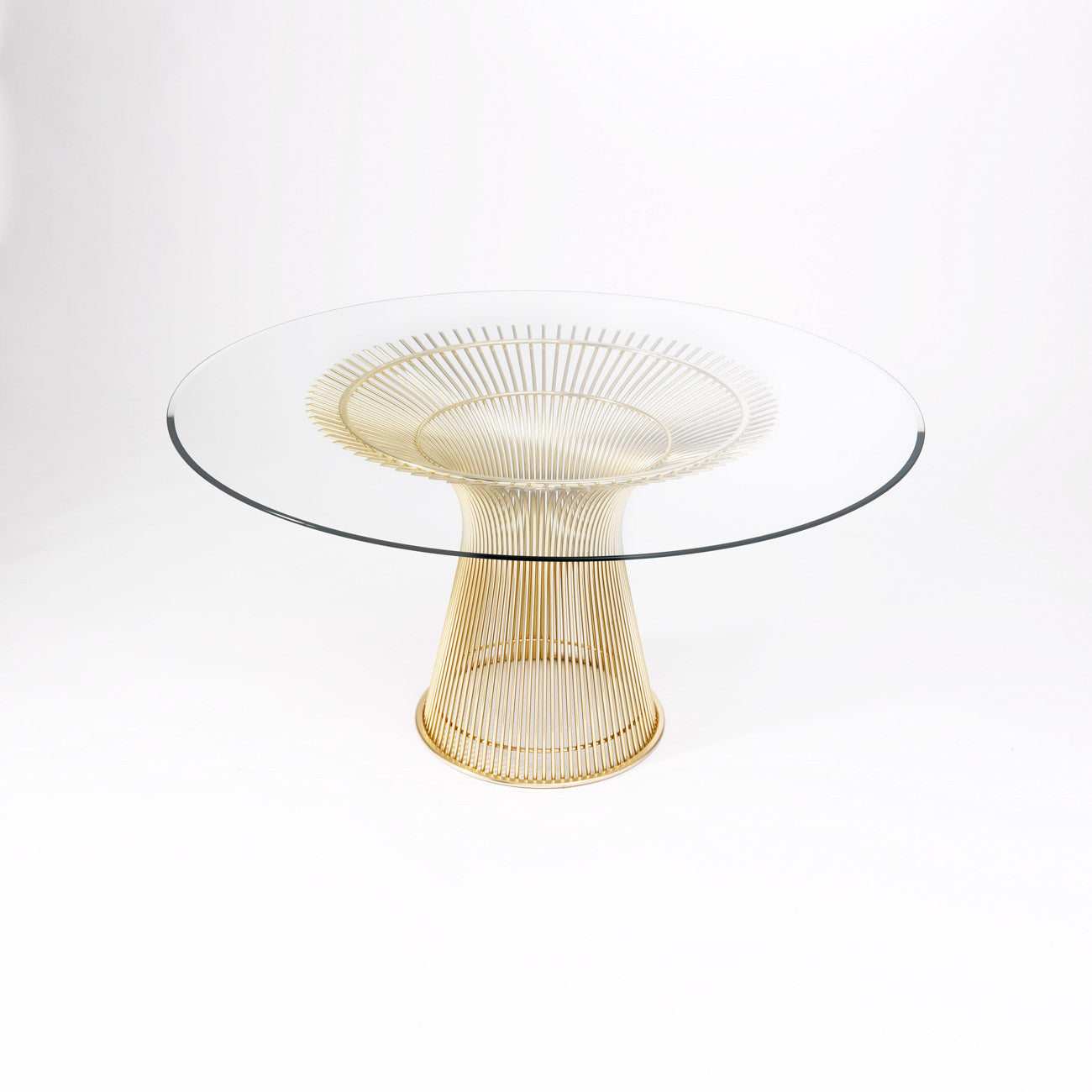 Platner gold plated dining table hivemodern com - Platner Dining Table Gold Plated