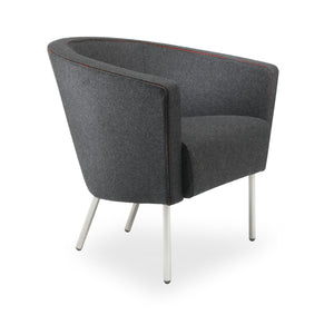 Boat Chair dark grey fabric