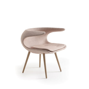 Frost Chair, light pink shell and cushion