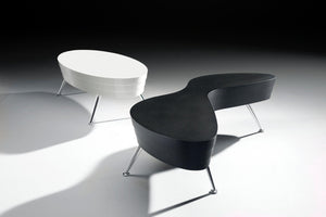 Mojo Coffee Tables white oval and black sunglass