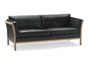 Paula Sofa black leather