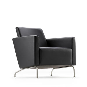 Ram Chair Low black leather - chair only