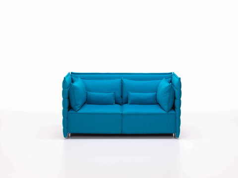 Alcove Plume 2-seat sofa, blue fabric