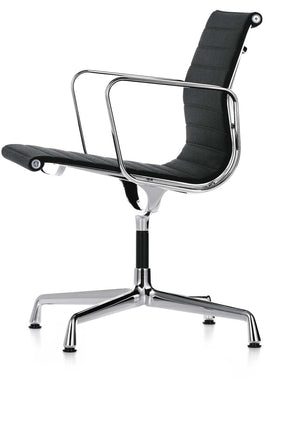 Eames Aluminium Chair EA 108, black leather