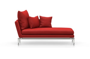 Suita Chaise Longue Small - Pointed Cushions red cushions