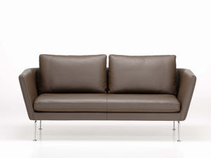 Suita Sofa - Two Seater, brown leather