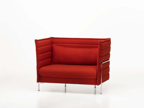 Alcove Love Seat in red