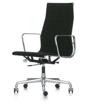Eames Aluminium Chair EA 119 black leather
