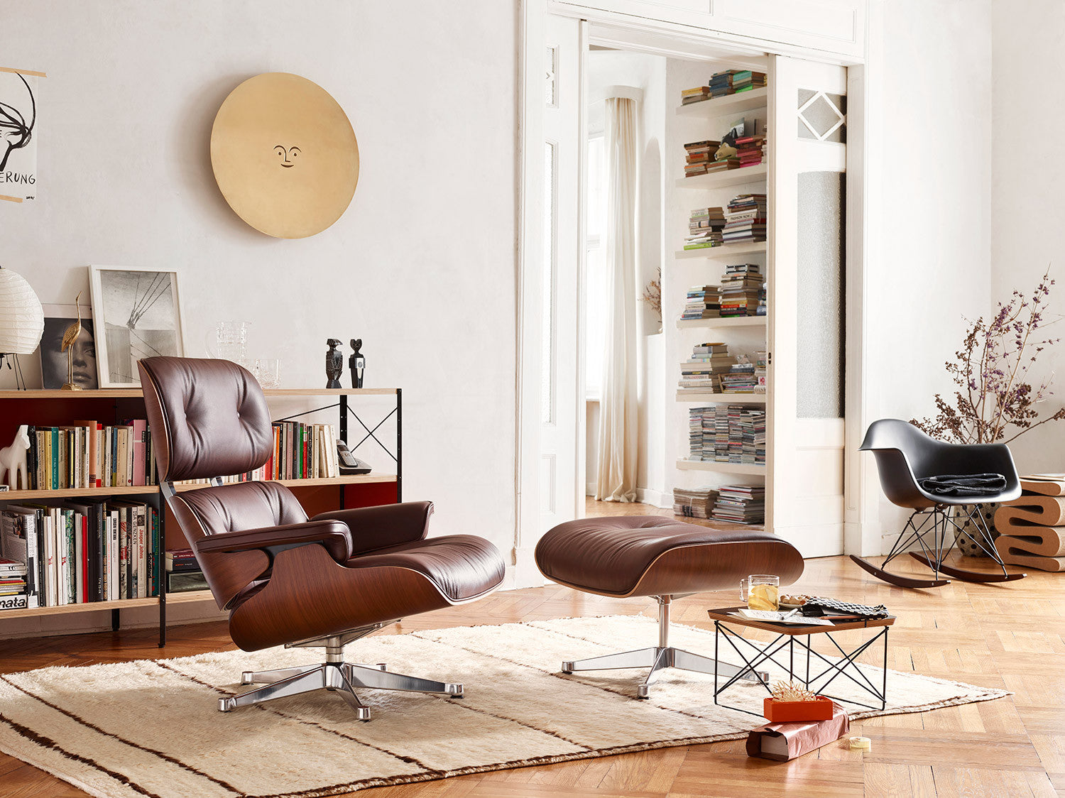 Eames Lounge Chair And Ottoman Walnut Black Pigmented   Winter Edition, RAR  Chair And Occasional Table LTR ...