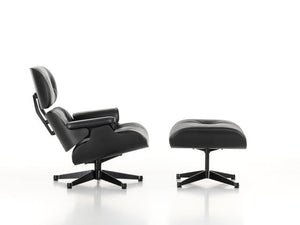 Eames Lounge Chair Black Version - black leather