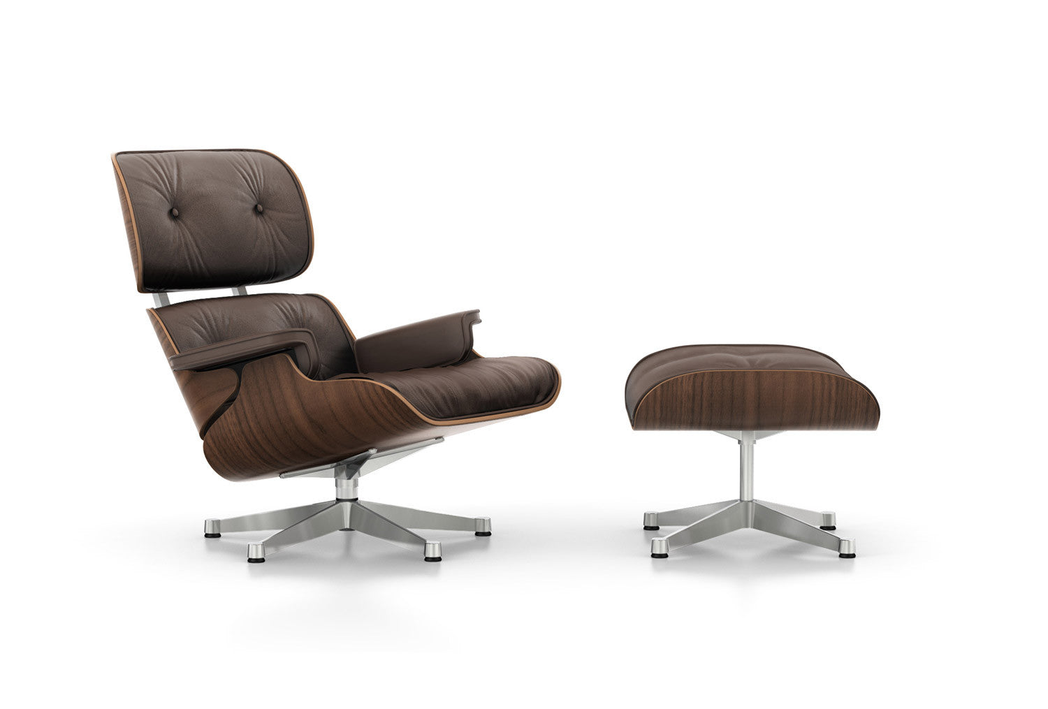 Eames Lounge Chair And Ottoman Walnut Black Pigmented   Winter Edition
