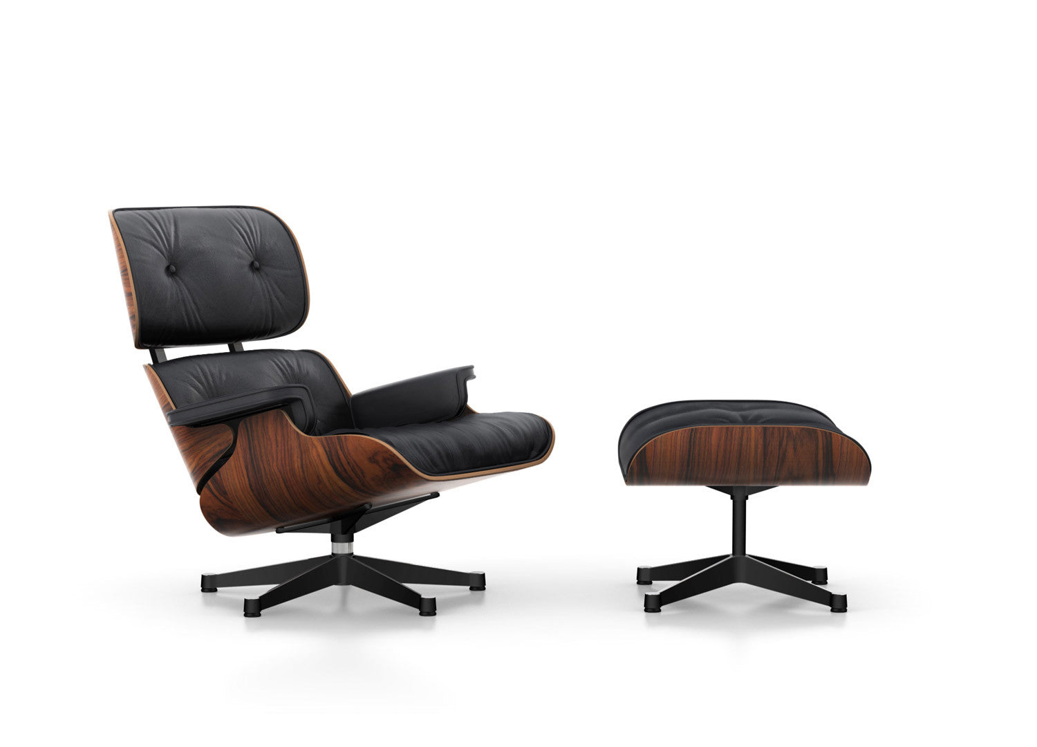 Eames Lounge Chair And Ottoman   Santos Palisander, Black Leather (Classic  Version)