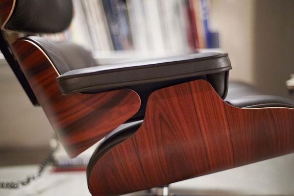palisander Eames Lounge Chair   Santos Palisander   Couch Potato Company palisander