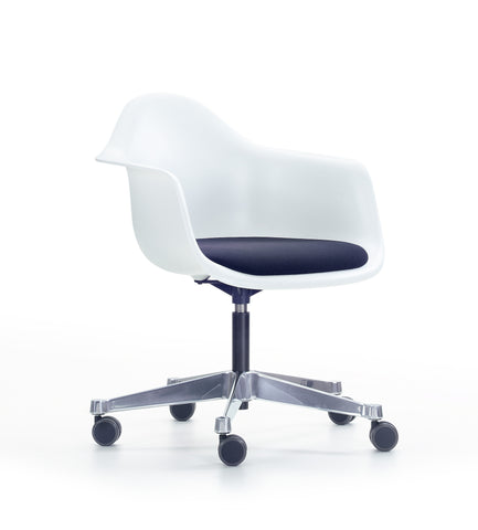 Eames Plastic Armchair (PACC), Seat Upholstered