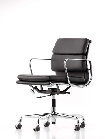 Eames Soft Pad Chair EA 217, black leather