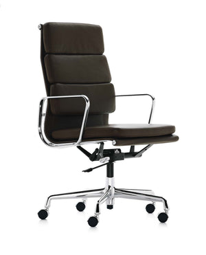 Eames Soft Pad Chair - EA 219 dark brown leather