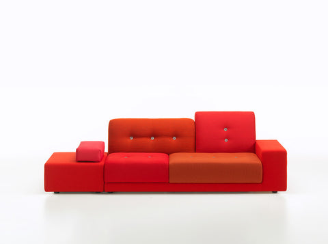 Polder sofa, red fabric mix