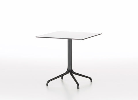 Belleville square bistro table, white top