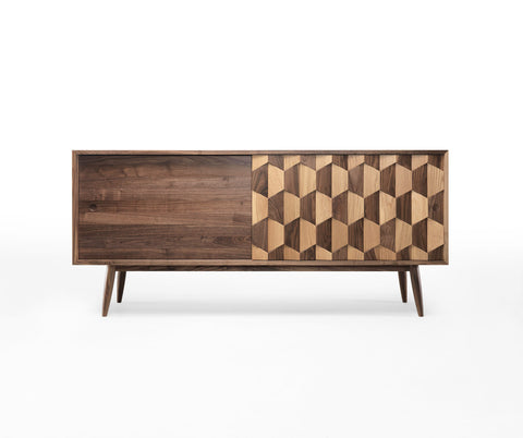 Scarpa sideboard, walnut and oak