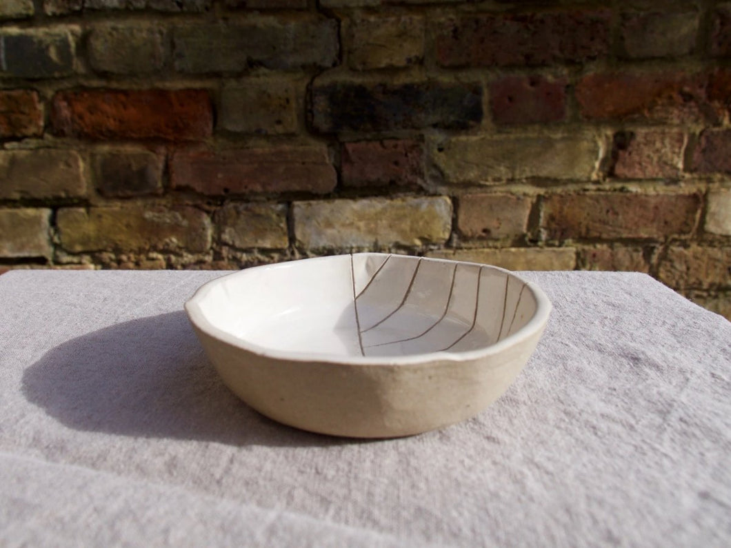 my hungry valentine-studio-ceramics-stripes-breakfast bowl-cream