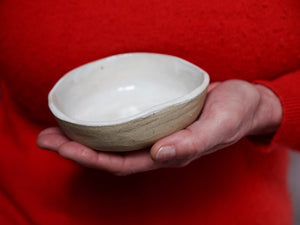 my hungry valentine-studio-ceramics-stripes-breakfast bowl-cloudy white-bowl