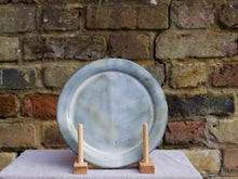 Load image into Gallery viewer, my hungry valentine-studio-ceramics-stripes-rimmed plate-medium-cloudy green