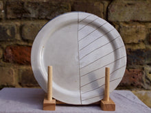 Load image into Gallery viewer, my hungry valentine-studio-ceramics-stripes-rimmed plate-medium-cream