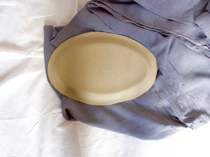 my hungry valentine-studio-ceramics-word on the clay-oval serving dish-matt white-family style-raw back