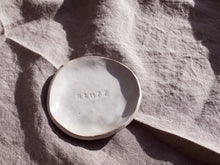 Load image into Gallery viewer, my hungry valentine-studio-ceramics-word on the clay-trinket dish-stuff-top