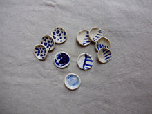 Load image into Gallery viewer, myhungryvalentine-studio-ceramics-seconds-cobalt-minisaltandpepperpots-group-top-2