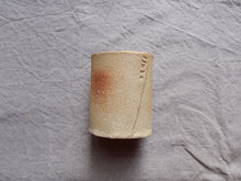 Load image into Gallery viewer, Pencil / paint brush holder pot - 'stuff' - Crank clay test - Gloss white