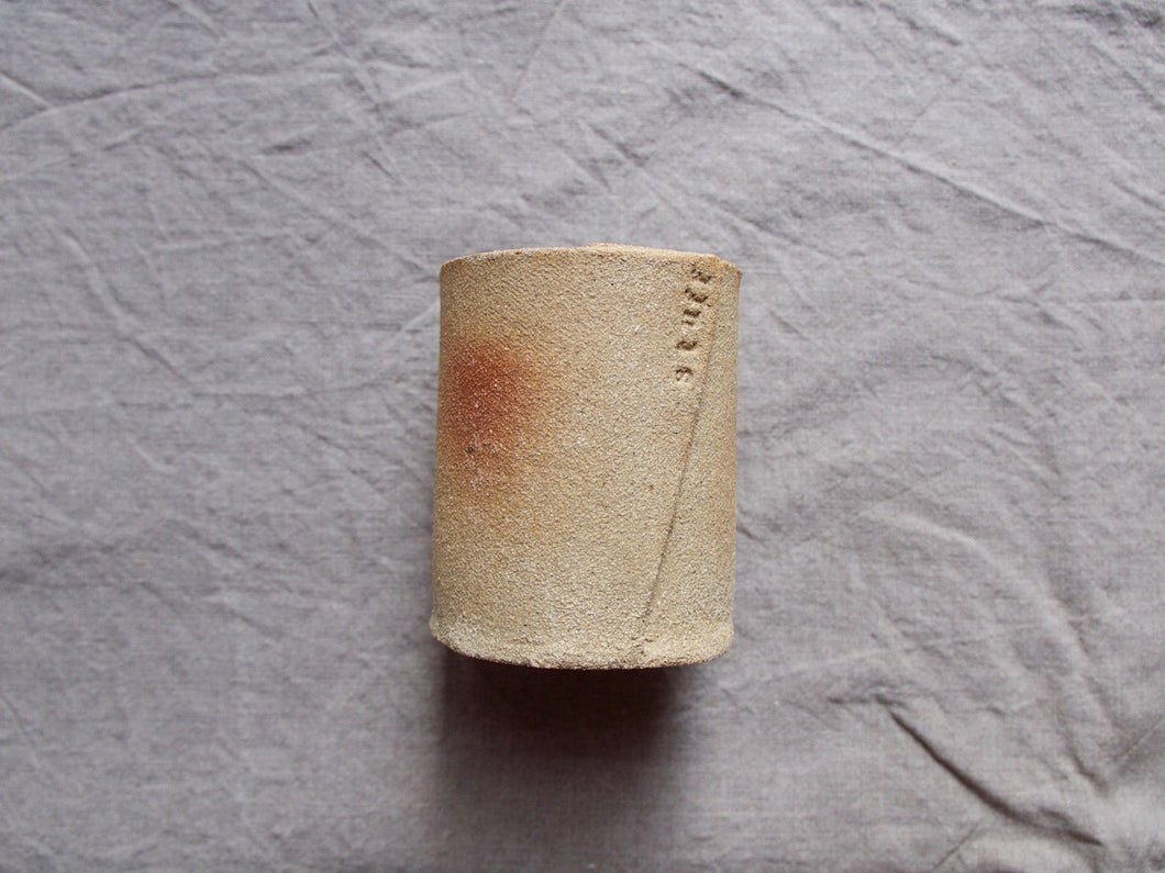 Pencil / paint brush holder pot - 'stuff' - Crank clay test - Gloss white